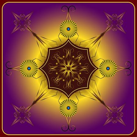 darkly: element for design and decorate on darkly violet background Illustration