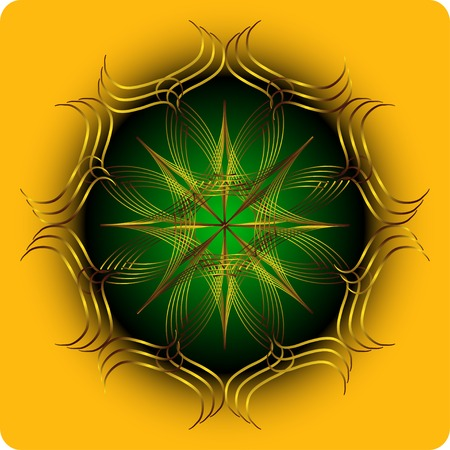 Element for design and decorate on yellow background