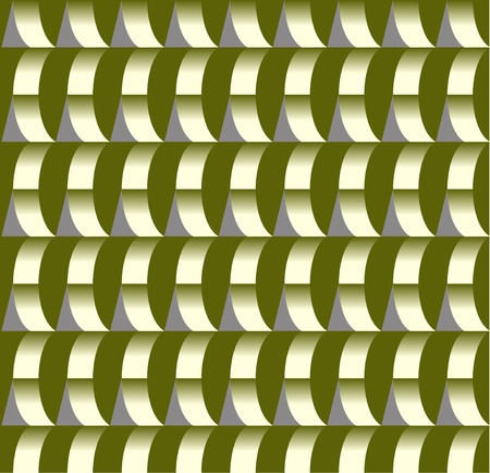 appearance: abstract pattern creates the appearance of a circle and bulges at the same time