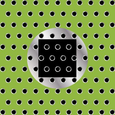 holes: square holes Illustration