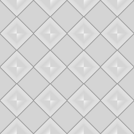 glimmer: abstract seamless pattern made up of gray squares with a glimmer in the middle Stock Photo