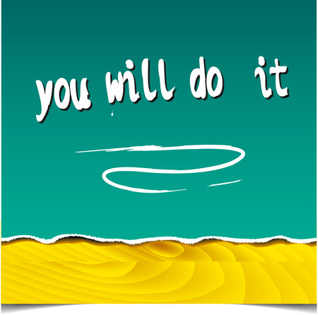 Motivational hand quote for graphics, wall art prints, home interior decor, poster, card design. Illustration