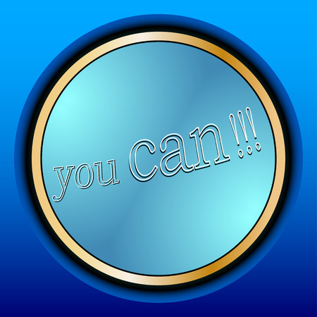 diligence: You can. Motivational quote for graphics,  home interior decor, poster, card design.