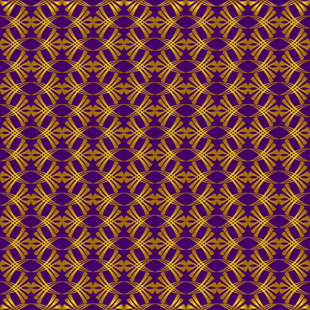 distort: Vintage pattern of various shapes on purple background  Seamless pattern for wallpapers and background. Illustration