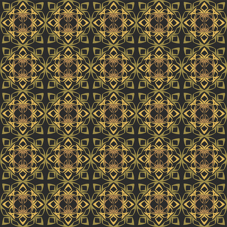 reiteration: Abstract pattern of various shapes on black background  Seamless pattern for wallpapers and background.
