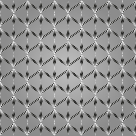 reiteration: Abstract pattern of zigzag shapes on gray background  Seamless pattern for wallpapers and background. Illustration