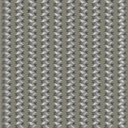 reiteration: Seamless pattern of abstract twisted steel columns on a gray background Stock Photo