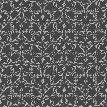 Abstract seamless pattern in vintage style on a black background