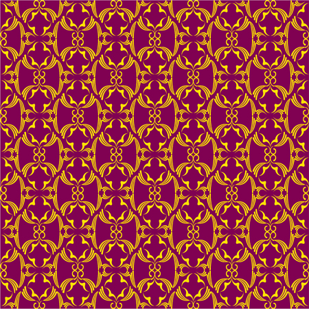 reiteration: Luxurious seamless pattern in vintage style on a violet background