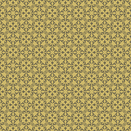reiteration: Abstract seamless pattern in vintage style on a light brown background Illustration