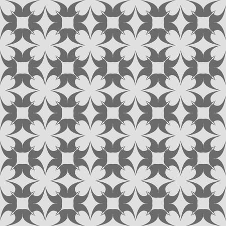 reiteration: Abstract seamless pattern in vintage style on a gray background
