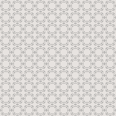 Abstract seamless pattern in vintage style on a gray background