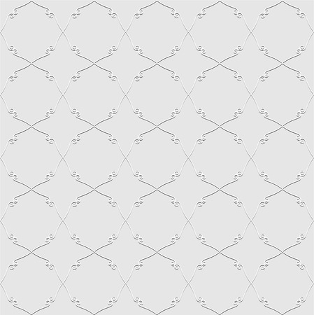 reiteration: Abstract seamless pattern in vintage style of the figures with curls on a gray background