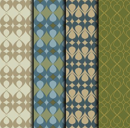 Wzór zestaw z dekoracyjnym ornamentem w stylu wschodnim