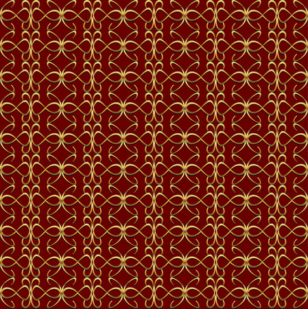 convexity: Gold red vintage pattern. Abstract background for print and web