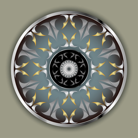 Chrome wheels consisting of abstract shapes deployed golden steel color