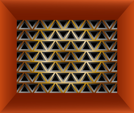 lining: Stylish geometric texture of triangles in red frame