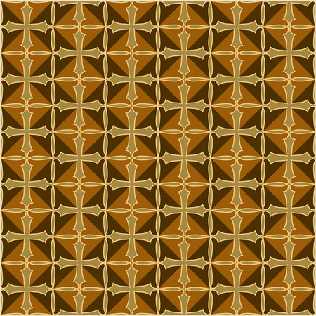 convexity: Pattern with crosses and decorative ornament in vintage style Illustration