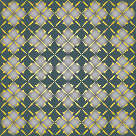 convexity: The pattern with decorative ornament in vintage style on gold background