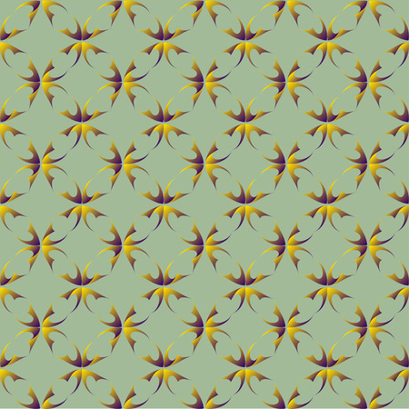 convexity: Seamless pattern of abstract overlapping purple yellow shapes