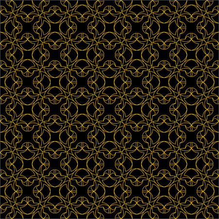 convexity: The pattern with decorative ornament in vintage style on black background