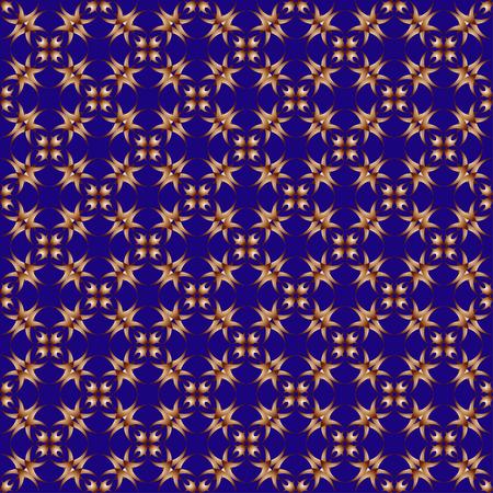Wzór z dekoracyjnym ornamentem w rocznika stylu na błękitnym tle Ilustracje wektorowe