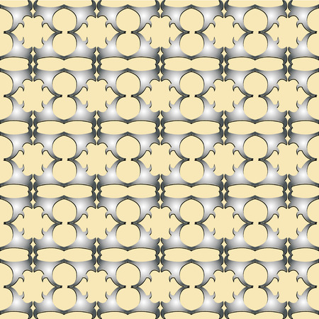 convexity: The pattern with decorative ornament on light yellow background