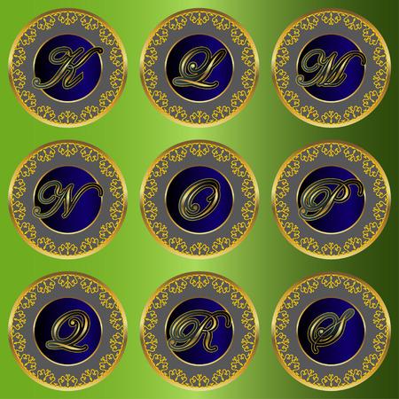 Monogram design elementen sierlijke sjabloon. Letters van het alfabet posters, visitekaartjes, boutique, hotels, heraldisch, sieraden