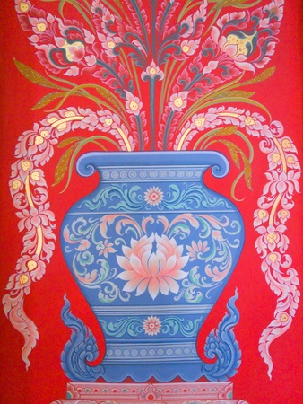 illustration: Vase painting red
