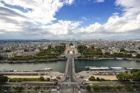 Aerial View on River Seine and Trocadero From the Eiffel Tower, Paris, France