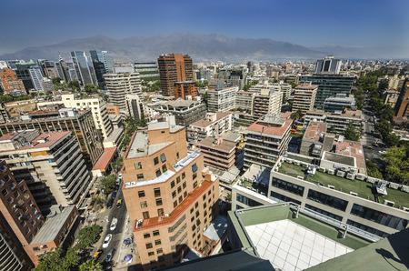 Santiago City Center - Chile, business center of Santiago day landscape 新闻类图片