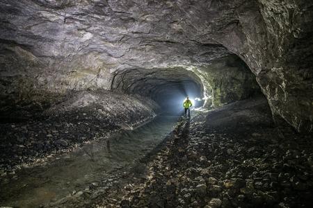 Minee worker at machines in underground mines. Ukraine, Donetsk