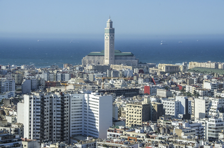 City panorama. Casablanca, Morocco. Africa. Panoramic view of white city in Marocco, Casablanca 免版税图像