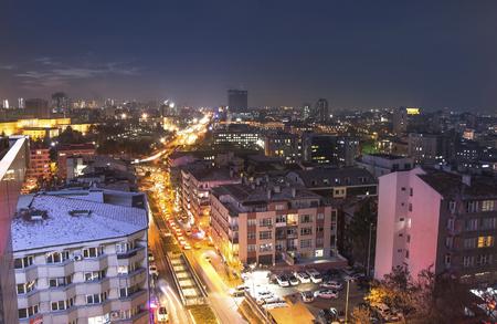 city park skyline: Panoramic Ankara and city center