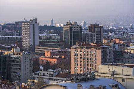 city park skyline: Ankara, Capital city of Turkey Stock Photo