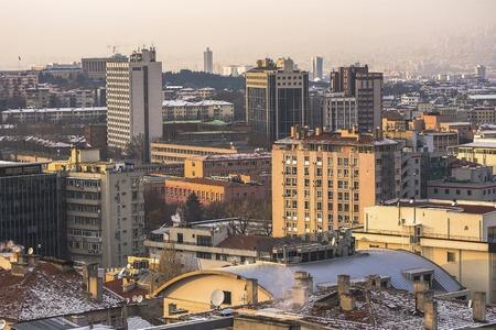 city park skyline: Ankara, Capital city of Turkey. Business city of Ankara landscape Stock Photo