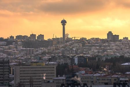 Ankara, Capital city of Turkey at sunset time