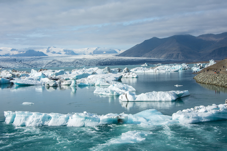 Eis an Jokulsarlon Glazial- Lagune, Island. Schöne Landlandschaft Island