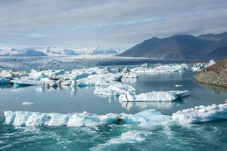 hielo en la laguna glacial Jokulsarlon, Islandia. Hermoso paisaje Islandia
