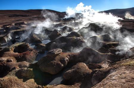 Geyser Sol de Manana, Potosi department, Euardo Avaroa natural reserve, south Bolivia