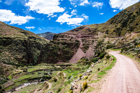 Sacred valley in Peru, mountains in Peru beautiful landscape Banque d'images