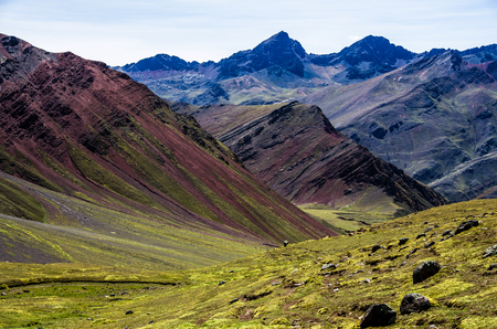 Sacred valley in Peru, mountains in Peru beautiful landscape Stock Photo