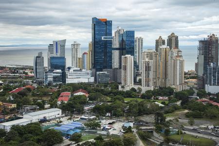 Panama city skyline - modern city skyline - skyscraper building panorama