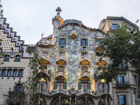 Spagna Barcellona Casa Batllo, architettura di Antonio Gaudi