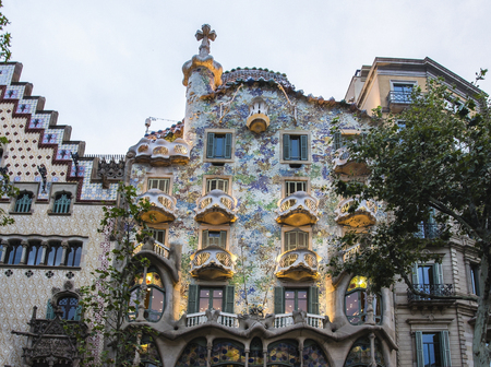 Spain Barcelona Casa Batllo, Antonio Gaudi architecture