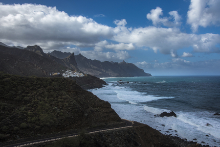 Aerial view Tenerife on Canary islands, Spain.