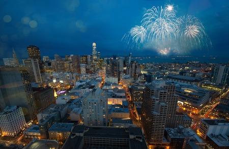 Beautiful New Year Firework in San Francisco