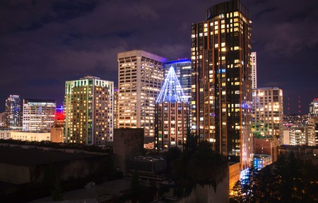 Seattle City at Night, Downtown architecture of Seattle