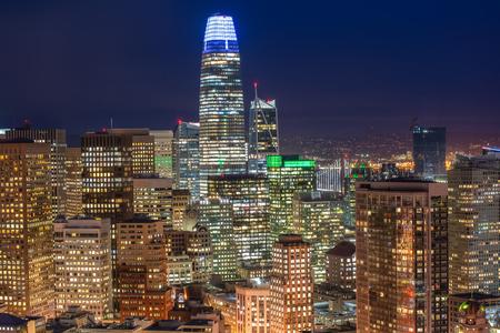 Aerial cityscape view of San Francisco, California, USA 版權商用圖片