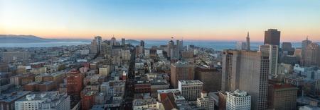 San Francisco. Image of San Francisco skyline at sunset time